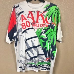 Akoo Men's Reef Short Sleeve Graphic Tee 2XL NWT